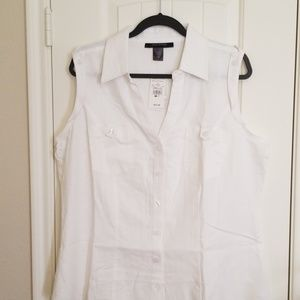 Ashley Stewart linen top